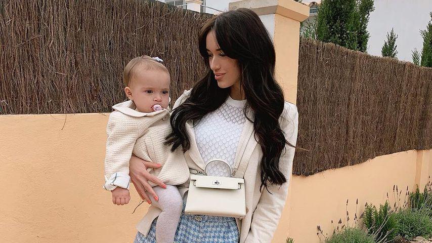 Hanna Schlönvoigt mit Töchterchen Delia in Palma De Mallorca