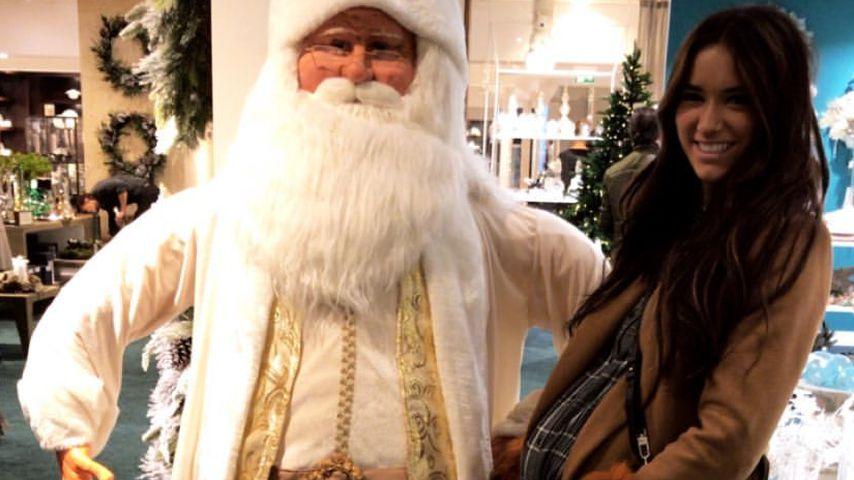 Weihnachtsmann-Konkurrenz: So schwanger ist Jörns Hanna!