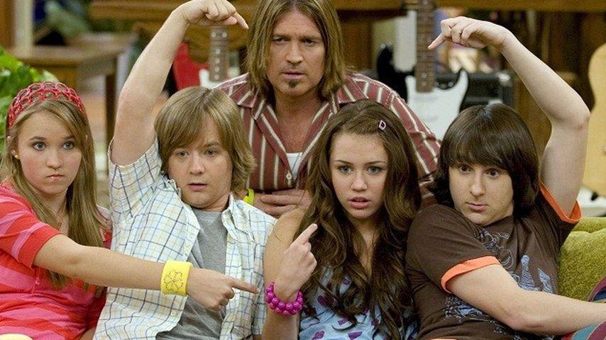 Miley Cyrus, Billy Ray Cyrus, Mitchel Musso und Emily Osment