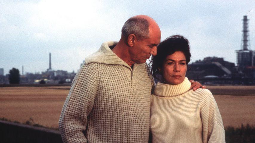 Walter Popp und Hannelore Elsner in einem Kriminalfilm