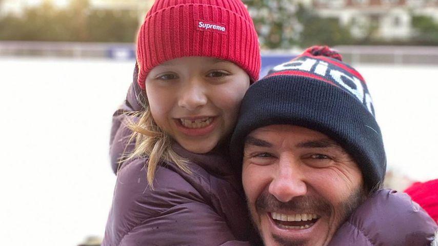 Harper Seven Beckham mit ihrem Vater David