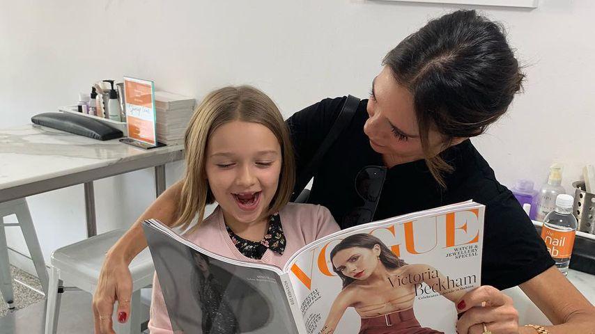 Wie Mama: Vic Beckhams Tochter Harper ist ein Beauty-Freak
