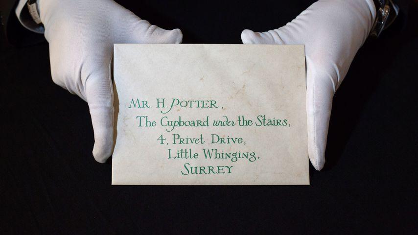 Harry Potters Hogwarts-Brief bei einer Versteigerung im Jahr 2016