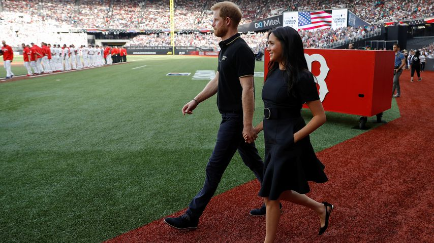 Prinz Harry und Herzogin Meghan im Queen Elizabeth Olympic Park Stadion in London
