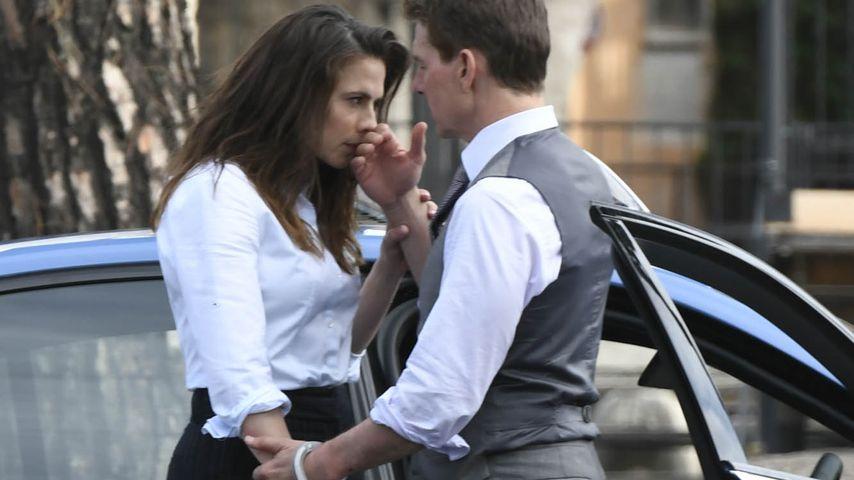 """Tom Cruise und Hayley Atwell beim Dreh von """"Mission: Impossible 7"""""""