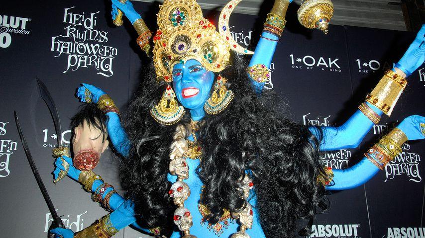 Heidi Klum auf ihrer Halloween-Party in NYC im Oktober 2008