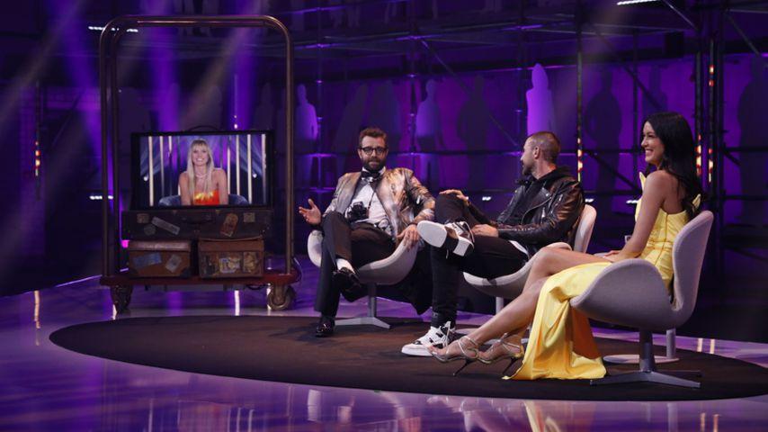 """Heidi Klum, Christian Anwander, Philipp Plein und Rebecca Mir beim """"Germany's next Topmodel""""-Finale"""