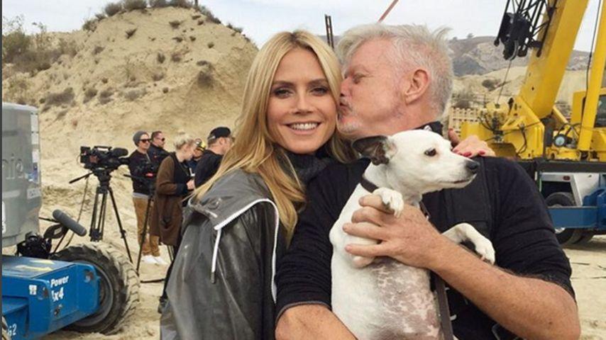 Küsschen für Heidi Klum: Neue Bilder vom GNTM-Set!