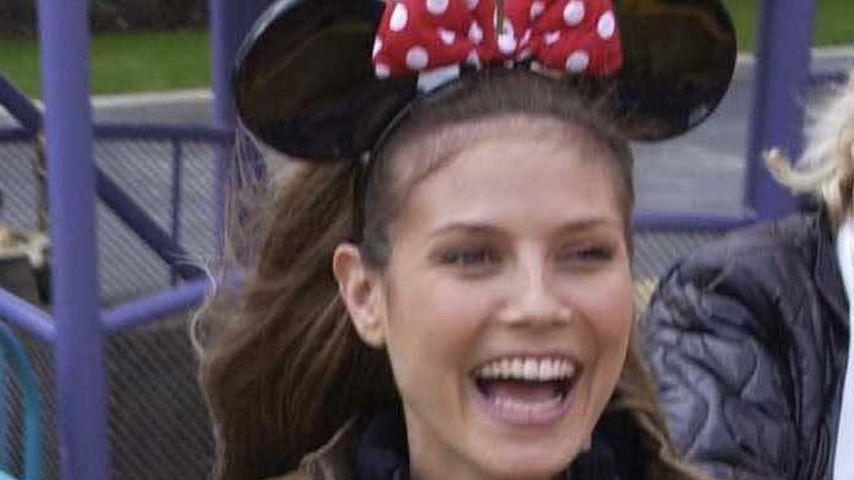 Throwback-Mäuschen: Heidi Klum beim Disney-Spaß