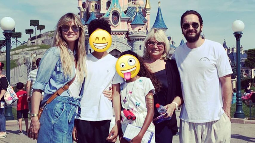Heidi Klum mit ihren Kids Henry und Lou sowie Mama Erna und Partner Tom Kaulitz