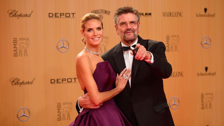 "Ohne Vito: Heidi Klums süßes ""Bambi""-Date mit Papa Günther"