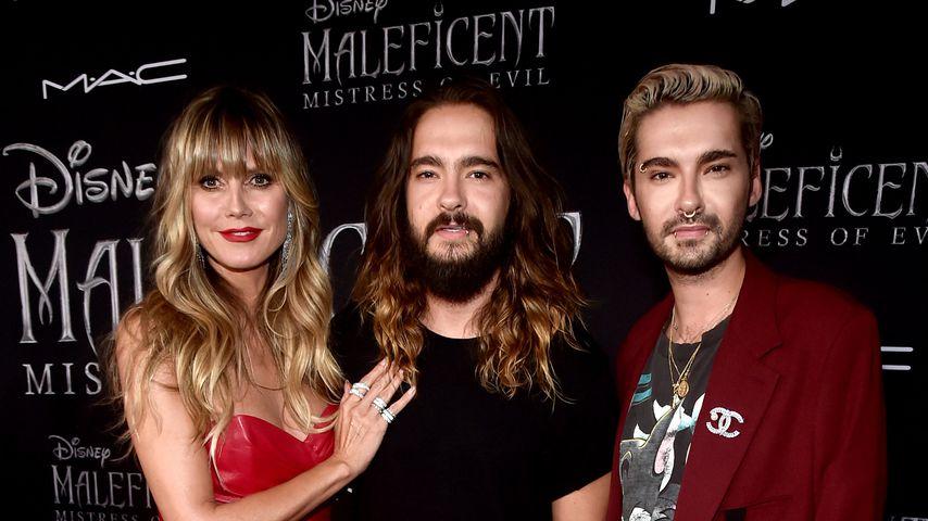 """Heidi Klum mit Tom und Bill Kaulitz auf der Premiere von """"Maleficent: Mächte der Finsternis"""""""