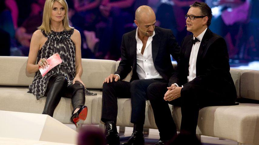 Heidi Klum, Peyman Amin und Rolf Scheider