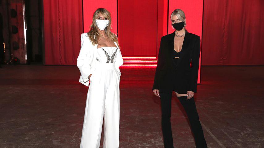 Heidi Klum und Lena Gercke im Rahmen der About You Fashion Week 2021