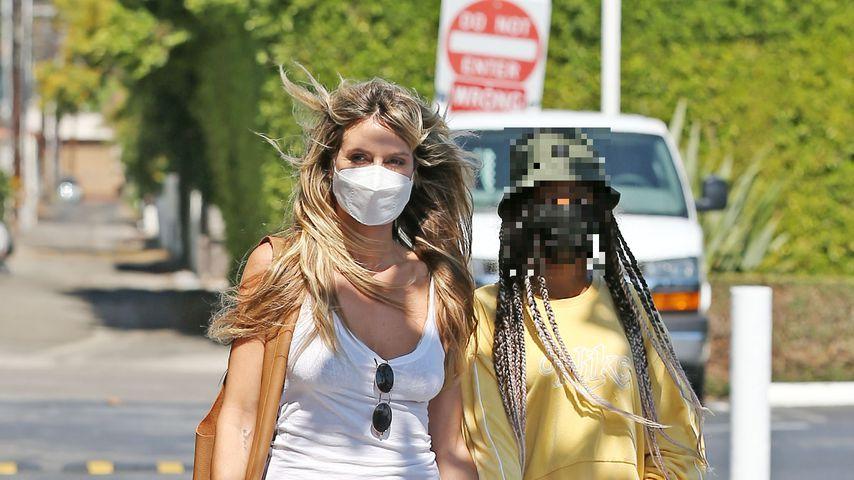 Heidi Klum und Lou Sulola Samuel im Juli 2021 in Los Angeles
