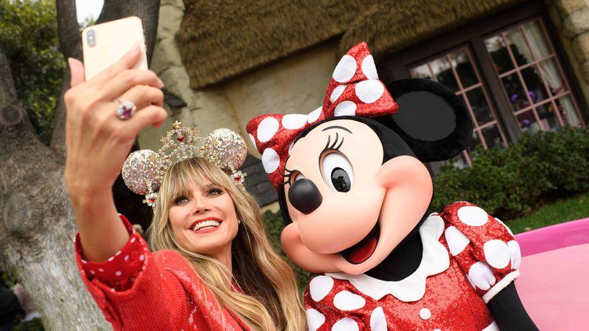 Heidi Klum und Minnie Mouse im Disneyland in Anaheim, September 2019