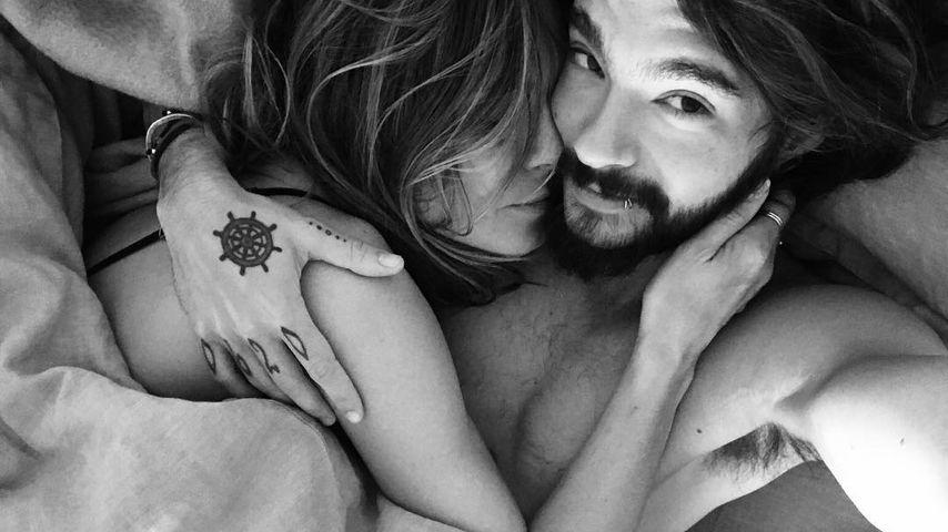 Verlobtes Bett-Selfie: Heidi & Tom zeigen sich beim Schmusen