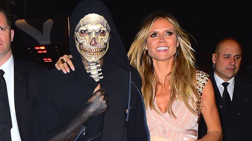 Vito Schnabel und Heidi Klum an Halloween 2016