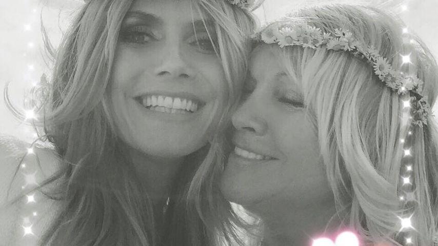 Familien-Idylle: Heidi Klum und ihre Mama im Hippie-Look