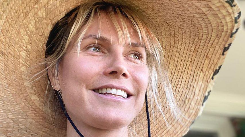 Ohne Make-up: Heidi Klum präsentiert sich ganz natürlich