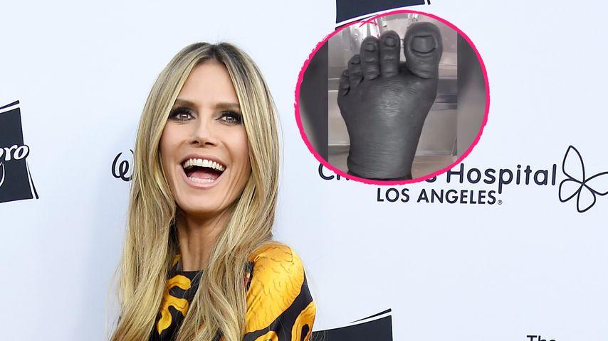 Mit XXL-Fuß: Heidi Klum streut Hinweise auf Halloween-Kostüm