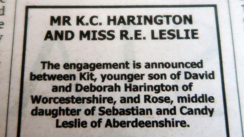 Heiratsanzeige von Kit Harington und Rose Leslie