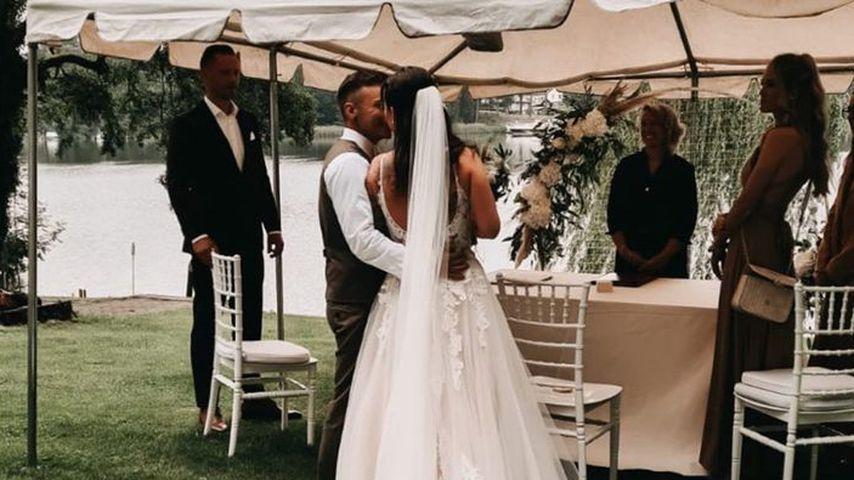 Henning und Denise Merten bei ihrer Hochzeit