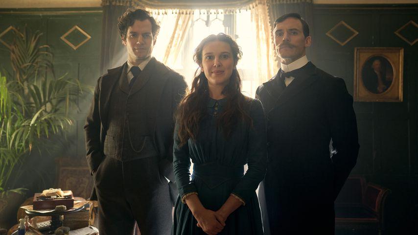 "Henry Cavill, Millie Bobby Brown und Sam Claflin in ""Enola Holmes"""