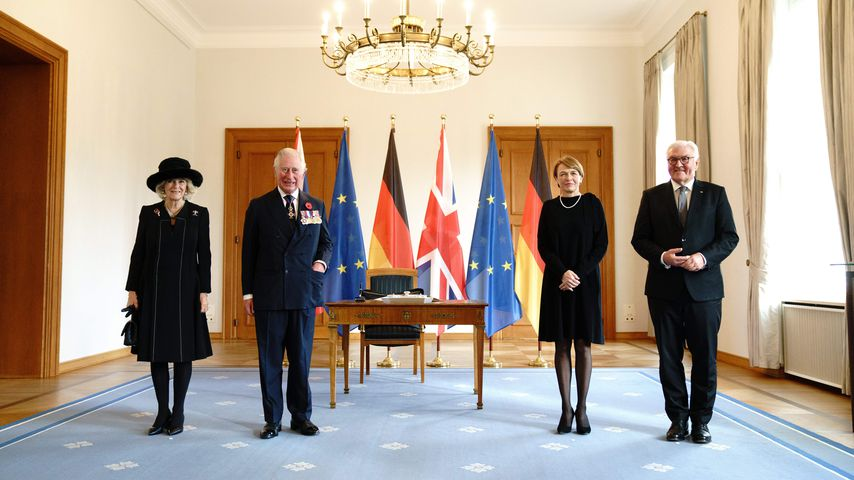 Herzogin Camilla, Prinz Charles, Elke Buedenbender und Frank-Walter Steinmeier