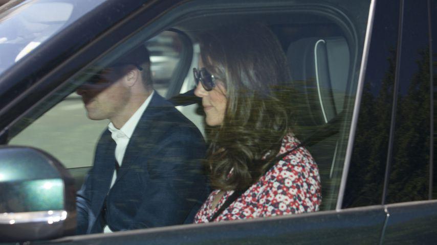 Prinz William und Herzogin Kate auf dem Weg zu Prinz Harry und Herzogin Meghans Hochzeitsproben