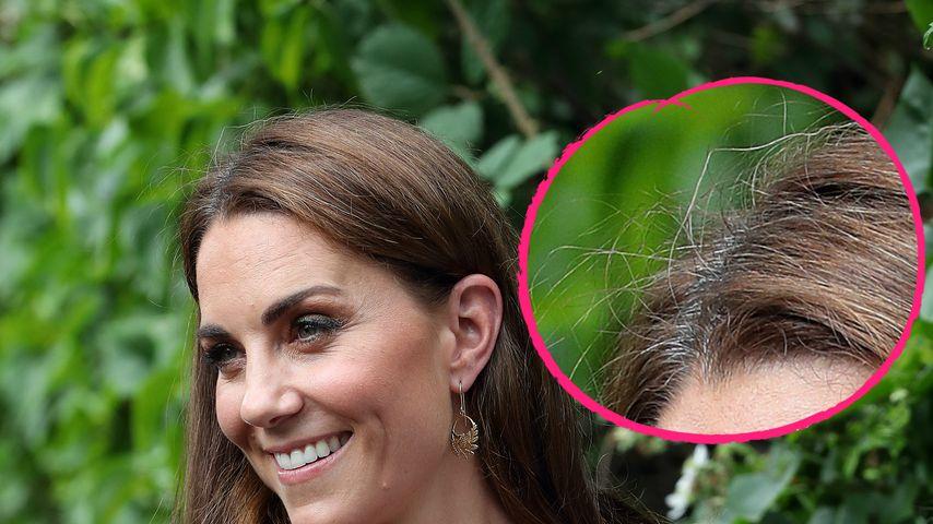 Ansatz und Strähnen: Herzogin Kate steht zu grauen Haaren!