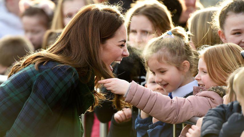 Herzogin Kate in der Stadt Dundee