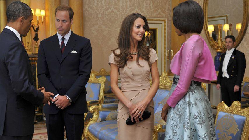 Herzogin Kate, Prinz William, Barack Obama und Michelle Obama