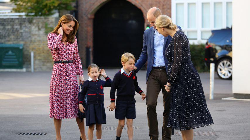 Herzogin Kate, Prinzessin Charlotte, Prinz George und Prinz William in London im September 2019