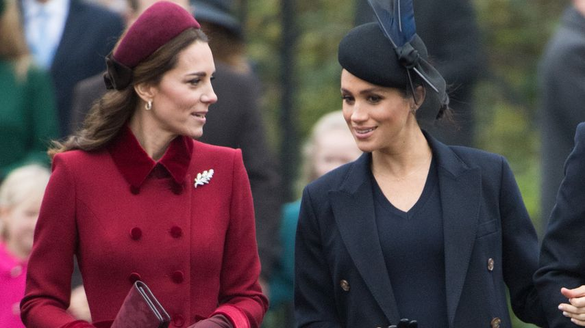 Herzogin Kate und Herzogin Meghan beim Kirchgang in Sandringham