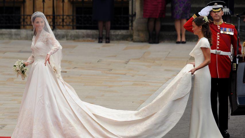 Herzogin Kate und Pippa Middleton bei der Hochzeit im April 2011