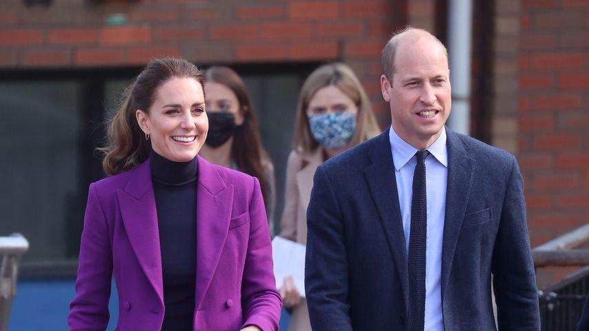 Herzogin Kate und Prinz William bei einem Besuch der Ulster University in Nordirland