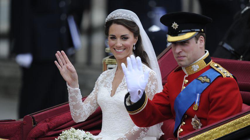 Herzogin Kate und Prinz William bei ihrer Hochzeit 2011