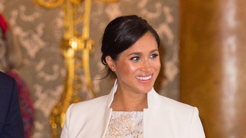 Herzogin Meghan bei einem Termin im Buckingham Palace, 2019