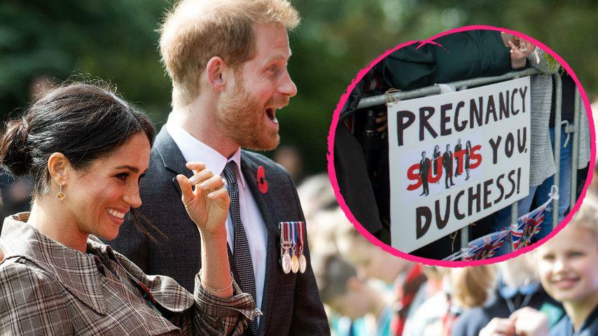 Witzige Fan-Plakate: So begrüßt Neuseeland Meghan & Harry!