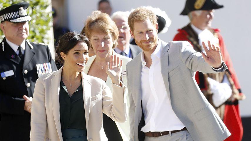 Herzogin Meghan und Prinz Harry bei ihrem Besuch in Sussex im Oktober 2018