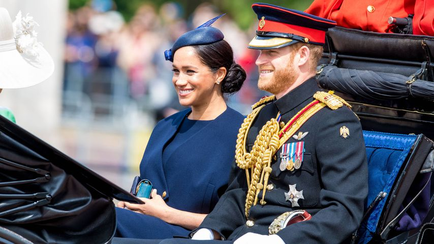 Herzogin Meghan und Prinz Harry bei Trooping the Colour 2019