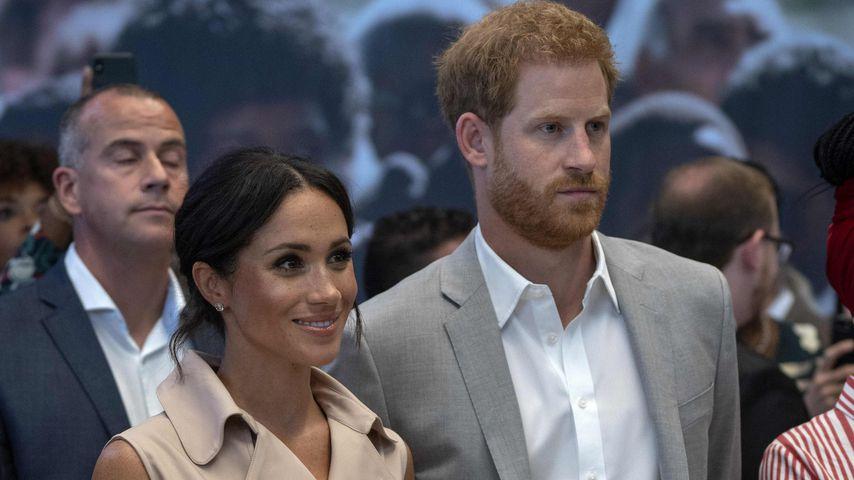 Herzogin Meghan und Prinz Harry beim Besuch der Nelson Mandela-Ausstellung in London