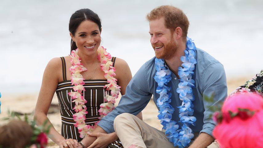 Herzogin Meghan und Prinz Harry am South Bondi Beach in Sydney im Jahr 2019