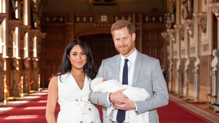 Herzogin Meghan und Prinz Harry mit ihrem Baby Archie Harrison