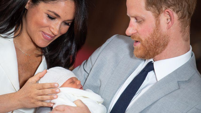 Herzogin Meghan und Prinz Harry mit ihrem Sohn