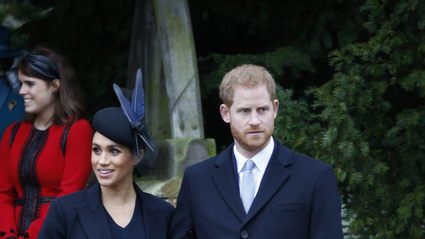 Herzogin Meghan und Prinz Harry im Dezember 2018 auf Schloss Sandringham