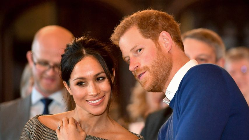 Herzogin Meghan und Prinz Harry in Cardiff