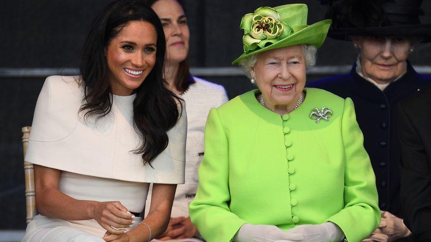 Beim Termin mit der Queen: Meghan befolgt nun Royal-Regeln!