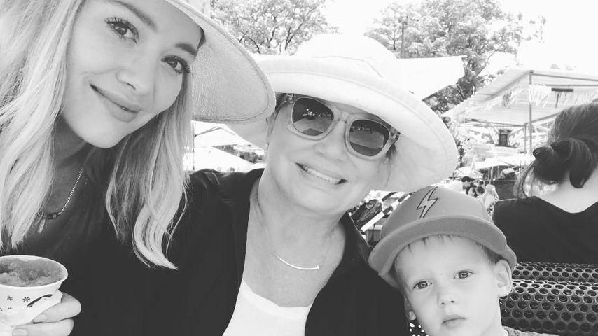 Hilary Duff mit ihrer Mama Susan Duff und ihrem Sohn Cruz Comrie
